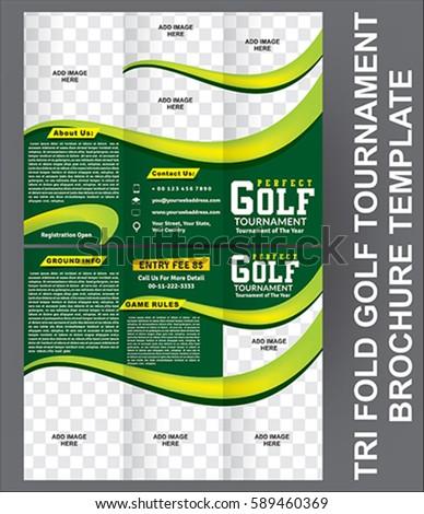 golf tournament brochure template - tri fold pizza brochure template stock vector 211678114