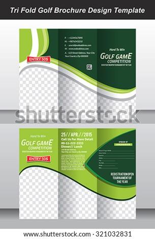 Tri Golf Brochure Template Design Vector Stock Vector 321032831
