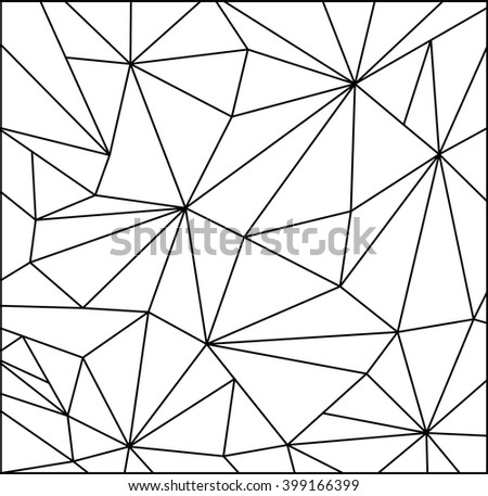 triangle abstract pattern design. vector illustration - stock vector