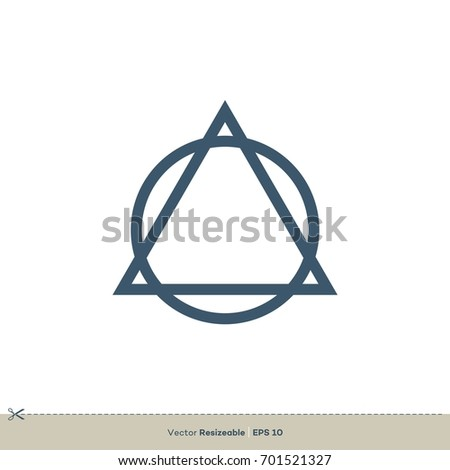 Triangle Circle Logo Template Stock Vector Royalty Free 701521327