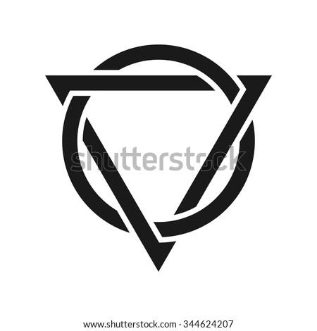 Triangle Circle Logo Vector Stock Vector Royalty Free 344624207