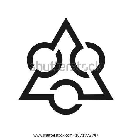 Triangle Circle Symbol Vintage Icon Ancient Stock Vector 1071972947