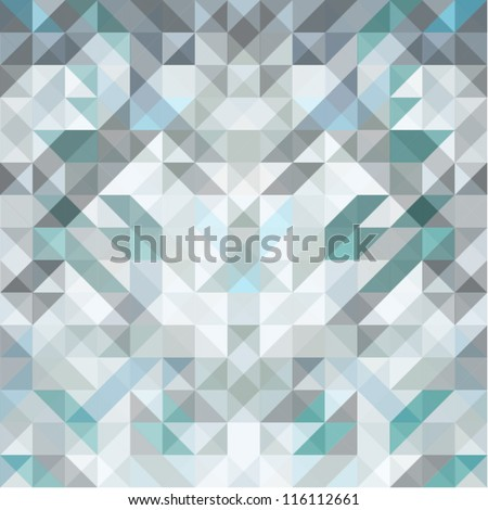 triangle background  gray vector - stock vector