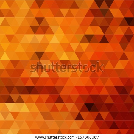 Triangle background in autumn colors - stock vector