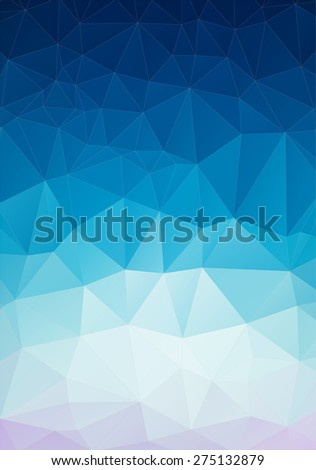 Triangle  background with geometric shapes for your design - stock vector