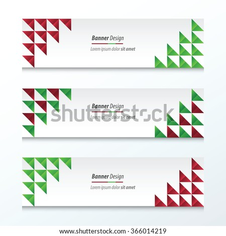 Triangle banner Christmas Styles - stock vector