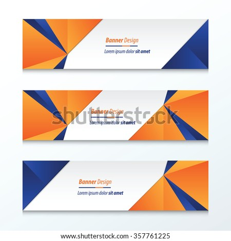 Triangle Banner orange and blue
