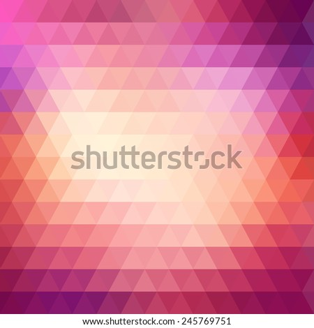 Triangle bright colorful vintage abstract background. Vector illustration - stock vector
