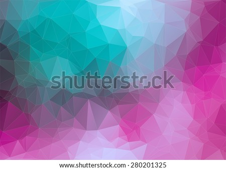 Triangle 2D geometric colorful background for web - stock vector
