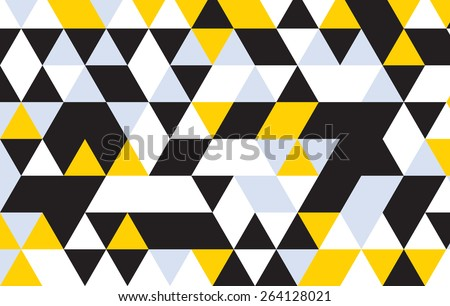 triangle design pattern background.black geometric abstract background. - stock vector