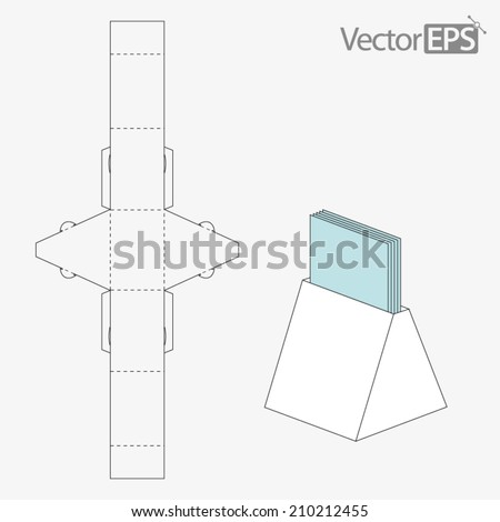 triangle packaging template - milk carton stock vector 217773355 shutterstock