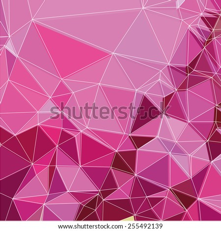 Triangle geometric pattern background - stock vector