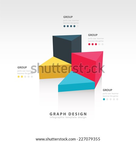 triangle graph infographic - stock vector