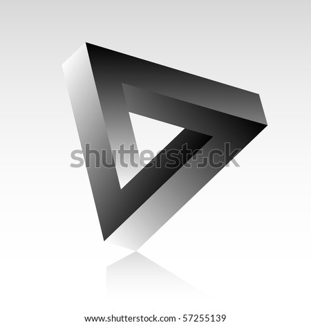 Triangle optical illusion. - stock vector