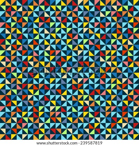 triangle pattern, background, texture - stock vector