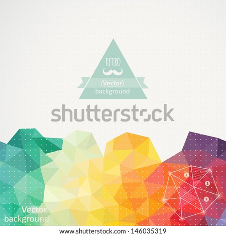 Triangle pattern background, triangle background, vector illustration with plenty space for your text - stock vector