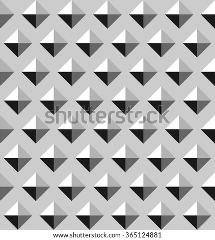 Triangle pattern vector in shades of grey, abstract geometric pattern - stock vector