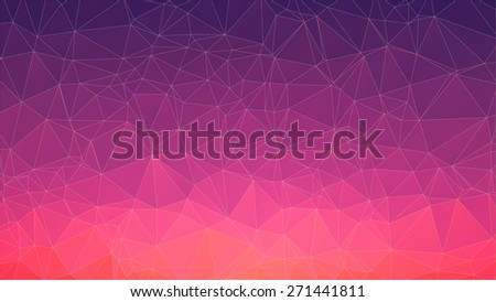 triangle polygon pattern background and gradient violet color  - stock vector