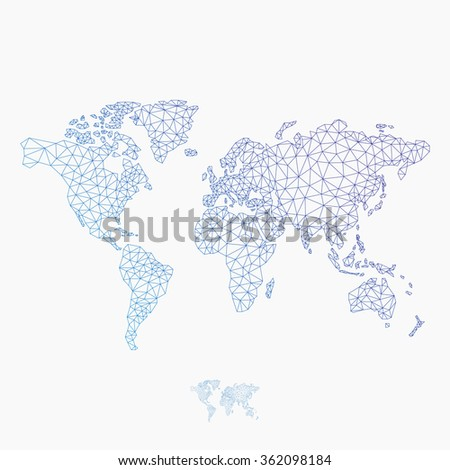 Triangle polygonal style world map vector stock vector 362098184 triangle polygonal style world map vector illustration eps 10 gumiabroncs Gallery