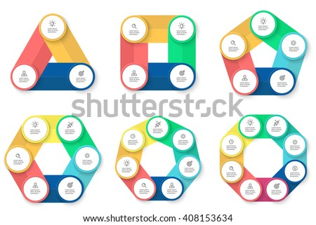 Triangle Square Pentagon Hexagon Heptagon Octagon Stock Vector ...