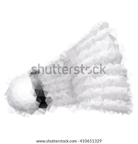 Triangle style illustration of a shuttlecock - stock vector