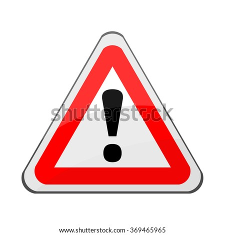 Triangle traffic sign for warning, vector - stock vector