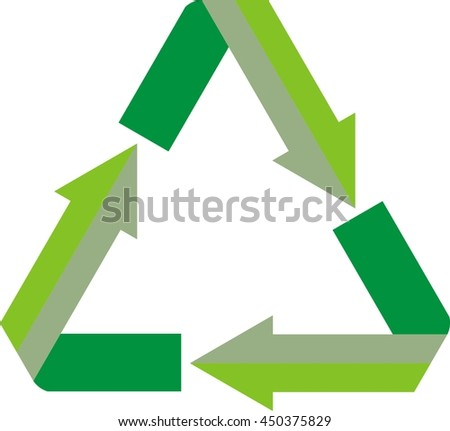 triangle with arrow recycle logo design