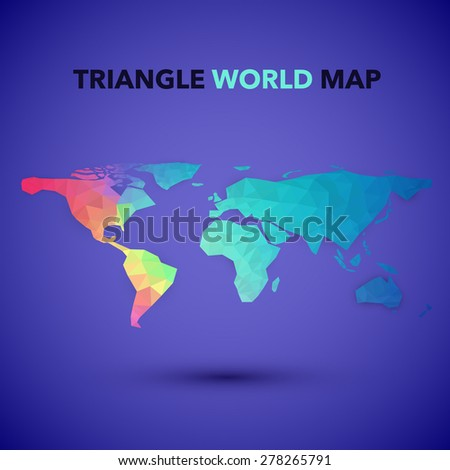 Triangle World Map