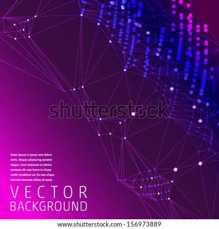 Triangles Abstract Dark Background for text. Vector. - stock vector