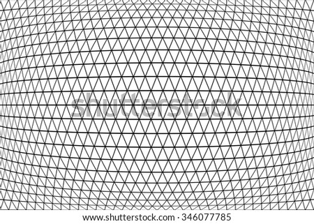 Triangles, diamonds and  hexagons pattern. 3D geometric latticed texture.  Vector art. - stock vector