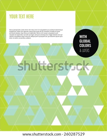 Triangles geometric background. Vector illustration Eps10 file. Global colors & layers.
