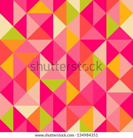 Triangles geometrical seamless pattern - stock vector