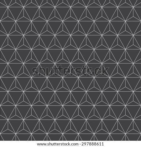 triangles pattern - stock vector