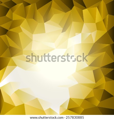 triangles pattern yellow white - stock vector