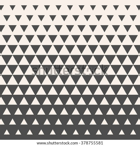 Triangles. Vintage HalfTone Gradient Geometric Background. Vector. - stock vector