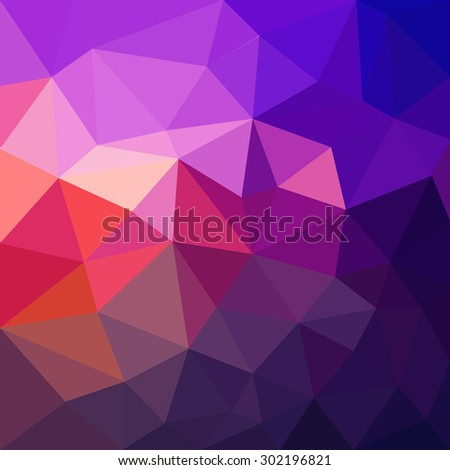 Triangular abstract background - stock vector