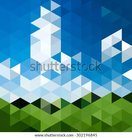 Triangular abstract background landscape - stock vector