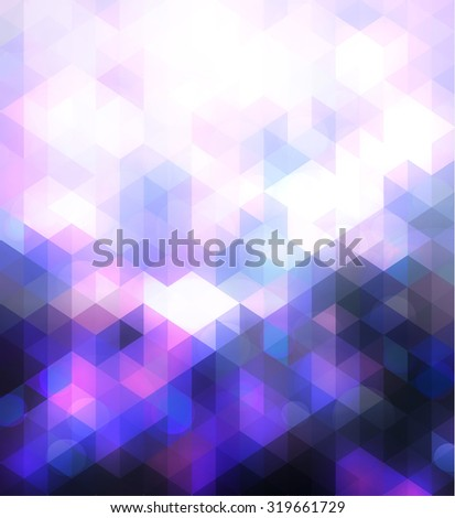triangular background with saturated  pink and blue  colors - stock vector
