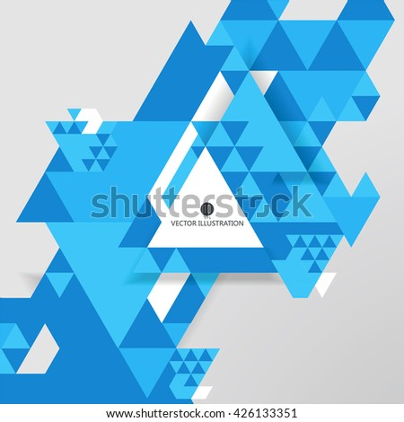 Triangular composition of abstract graphics, Vector illustration. - stock vector