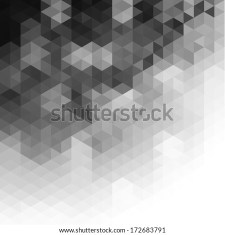 Triangular pattern background  - stock vector