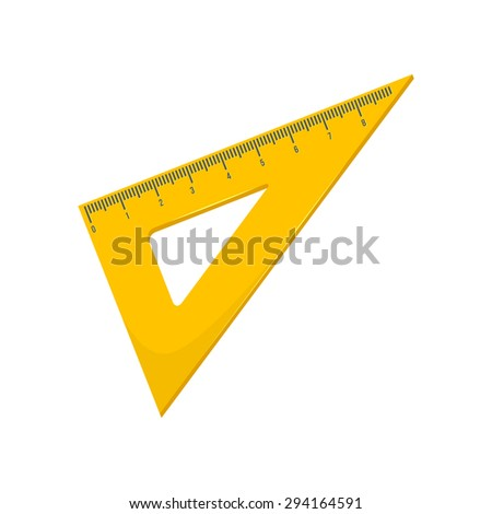 Triangular ruler. Isolated icon pictogram.  - stock vector