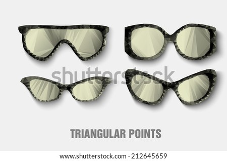 triangular sunglasses abstract, background, banner creative paper