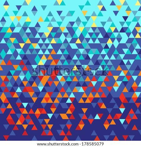 Triangulation passage - stock vector