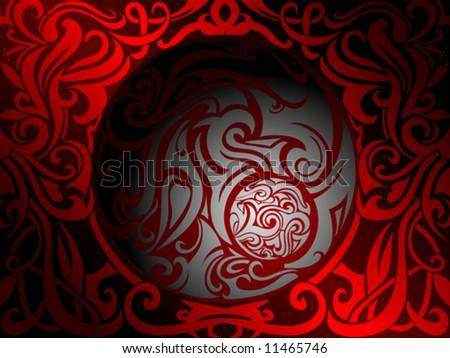 Tribal art illustration - stock vector