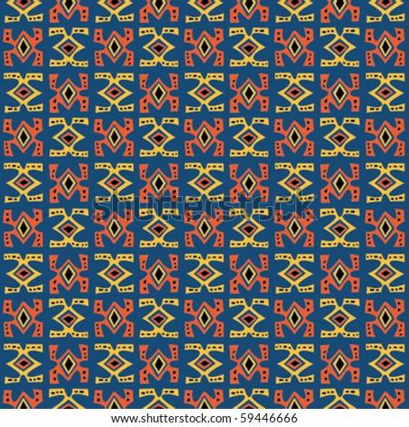 Tribal art. Seamless vector pattern. - stock vector