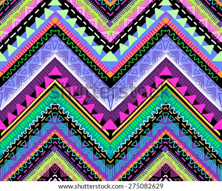 Tribal Aztec print ~ seamless background - stock vector