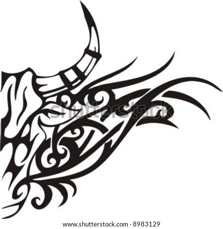 taurus bull tattoo tribal and clip Flame art, Bull Designs Tribal  high Tribal  quality vector