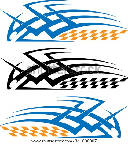 Tribal car decal vinyl ready vector illustration