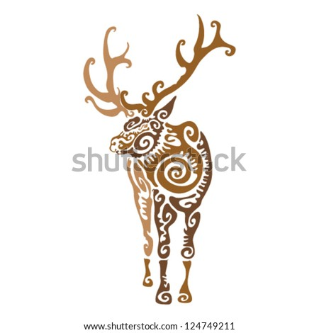 stock images similar to id 94658707 ornamented deer