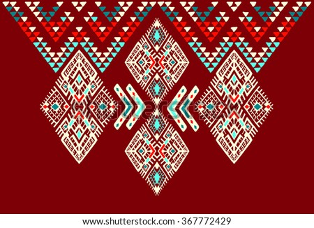 Tribal Ethnic collection, the elements of ethnic patterns of the Aztecs.